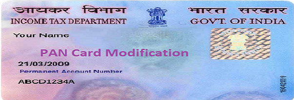 pan card Modification online in India